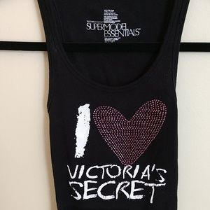Victoria's Secret Black Supermodel Essentials Tank